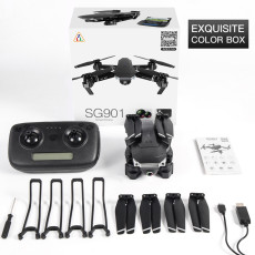 Feichao SG901 Camera Drone 4K HD Dual Camera Wide Angle GPS Follow Me Anti-shake Optical Flow WIFI FPV RC Quadcopter Foldable Dron Toys