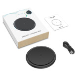 FCLUO Upgrade Dual-sided Mini Cooler Size 8.5mm Wireless Charger Qi 5W 10W Fast Charging Pad Dock for Iphone Samsung Huawei Xiaomi
