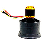 QX-MOTOR QF2611 3300 4000KV 4600KV 5000KV Brushless Motor CW CCW 3-4S 50mm 12 Paddle EDF Ducted cooling fan for FMS RC Airplane Helicopter