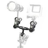 BGNING  ​SLR Camera Diving Ball Head Light Extention Arm with 1inch Ball Clip Adapter 3Way Option for Gopro Sport Underwater photography