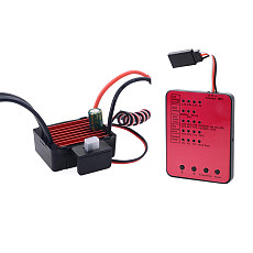 Surpass Hobby KK Waterproof 25A Brushless ESC 2S Electric Speed Controller with LED Programing Card for RC 1/16 1/18 1/20 RC Car 2030 2040 2430 2435 2440 2445 Motor