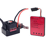 Surpass Hobby Waterproof Brushless Senseless Speed Controller 45A 60A 120A 150A ESC with LED Programing Card for 1/8 1/10 1/12 1/20 RC Car