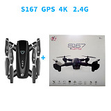 Feichao S167 GPS Drone Foldable Camera 4K HD Selfie 5G RC Quadcopter WIFI FPV Off-Point Flying Gesture Photos Video Helicopter Mini Drone