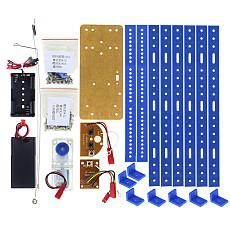 Feichao Smart Robot Kit Remote Control 6-Legs Remote Control Robotic DIY Kits Speed Encoder Battery Box