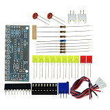Feichao Electronic DIY Kit LM3915 Audio Level Indicator Production Suite DC 9V-12V Audio Indicator Suite