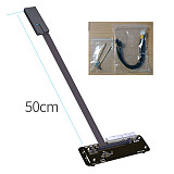 ADT-Link M.2 Key M NVMe External Graphics Card Stand Bracket with PCIe3.0 X4 to Thunderbolt 3 Riser Cable PCI-Express External Adapter Cable EGPU Adapter 25cm 50cm 32Gbs for ITX STX NUC
