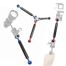 BGNING Aluminum Alloy Diving Carbon Fiber Double Ball Head Float Buoyancy Arm for DJI OSMO for Gopro /EKEN Sports SLR Camera Underwater
