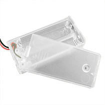 Feichao 2 AA Battery Holder Box Case With Switch New 2 AA Batteries Storage Protector Cover Transparent For RC Car DIY Smart Circuit