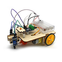 Feichao Intelligent Car Tracking Motor Smart Robot Car Truck Chassis 2WD Kit Steam Education Learning Electronic Circuit for Arduino DIY Toys