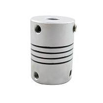 2 Pcs feichao CNC Aluminum Stepper Motor Jaw Shaft Coupler 5mm to 8mm Flexible Joint D19 * L25mm Connector dropship 3/4/5/6 / 6.35 / 7/8 / 10mm