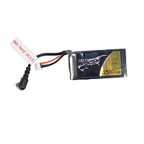 TATTU 2500mah 7.4V 2S Lipo Battery for Fatshark Dominator Skyzone Aomway EV200D EV800 Goggles FPV Goggles Battery RC FPV Drone