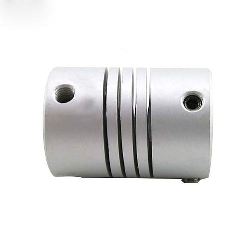2pcs 5x10mm CNC Motor Jaw Shaft Coupler 5mm To 10mm Flexible Coupling OD19x25mm