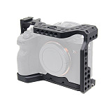BGNING Aluminum Cage Camera for Sony A7I4 / A7R4 / A7R IV Photography SLR with 1/4 3/8 Threaded Hole for Top Handle Microphone Flash Light