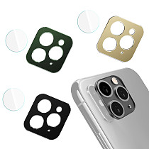 FCLUO Metal Tempered Glass Camera Lens Screen Protector For iPhone 11/ iPhone11 Pro/ iPhone11 pro Max
