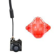 JMT 5.8G 800TVL FPV AIO Micro Camera 25MW 40CH Transmitter LST-S2+ FPV Camera with Canopy for Tiny Bwhoop Bwoop65 Bwhoop75 Snapper 6 7 Aircraft Angle adjustable