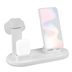 FCLUO 3 in 1 Charging Dock Support For Apple Watch iPhone 11 Pro XS XR 7 8 Plus Airpods Dock Wireless Charger Stand Station Mount Base