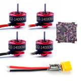 JMT Play F4 Whoop Flight Controller Built-in 5A 1-2S 4in1 ESC with SE0802 0802 Motors for RC Drone Indoor FPV Racing Quadcopter