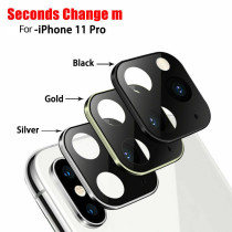 FCLUO Metal Lens Sticker for iPhone XR X XS MAX Camera Cover Change to iPhone 11 Pro MAX