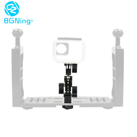 BGNING 180 Degree Swivel Arm, 1/4 Male Screw to Camera Slot Magic Arm Multi-Function Photography Combo for Dual Handheld Grip