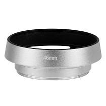 BGNing 37mm 40.5mm 43mm 46mm 49mm 52 mm 55mm 58mm Aluminium Silver Lens Oblique Cover Internal thread Hood For Leica SLR Cameras