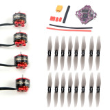 Happymodel EX1105 3-4S 1105 5200KV Brushless Motor with F4 Flight Controller OSD BEC and 12A BL_S 2- 4S 4in1 12A ESC for FPV Drone
