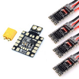 FLYCOLOR 20A 2 ~ 4S LiPo Brushless Speed Controller ESC with PDB XT60 Power Board for QAV 210 215 180-230mm RC FPV Drone Frame kit