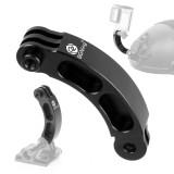 BGNING Aluminum Short Bend Rod Extension Rod Extension Arm Helmet Stand Extension Bend For GOPRO/SJCAM/Millet/Darjiang and Other Sports Cameras