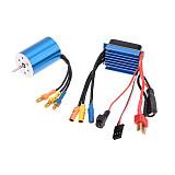Surpass Hobby 2435 4800kv 4500kv 4P Sensorless Brushless Motor & 25A Brushless ESC Electric Speed Controller for 1/14 1/16 RC Car Truck