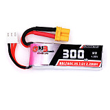 GNB 300MAH 2S 80C 7.6V High Voltage BETA75X FPV Indoor Drone Aircraft Lithium Battery