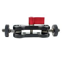 BGNING Portable Double Ball Head for SLR Camera Magic Arm Gimbal Monitor Bracket 360 Degrees Rotate Dual Ball Head Strange Hand Clamp Super Holder Stand