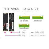 US Stock XT-XINTE NVMe PCIE USB3.1 HDD Enclosure M.2 to USB Type C 3.1 M KEY SSD Hard Disk Drive Case External Mobile Box