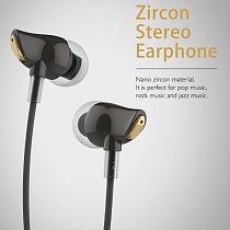 US STOCK Rock Stereo Zircon Microphone New Headset In-ear Earphone Earplug White