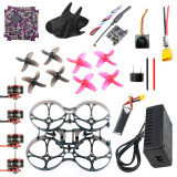 QWinOut DIY RC Drone Kit 75MM Frame Play F4 WHOOP Flight Controller FE200T VTX SE0802 1-2S Motor Nano 2 FPV Camera