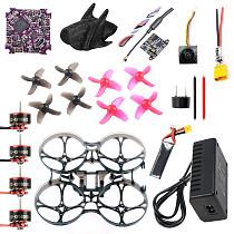 QWinOut DIY RC Drone Kit 75MM Frame Play F4 WHOOP Flight Controller FE200T VTX SE0802 1-2S Motor Nano 2 FPV Camera