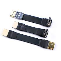 ADT-Link Flat Slim Angled Standard HDMI 2.0 Male/Female to HDMI 2.0 Male/Female 20 pin FFC FPC Flat Ribbon Elbow Cable 2K/144hz 4K/60Hz for HDTV AV Aerial Photography