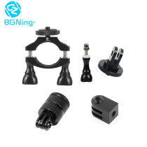BGNING Bicycle Motorcycle Handlebar Mount Clip, Tripod Clamp Holder with 360 Degrees Rotatable Conversion Seat for Sport Camera