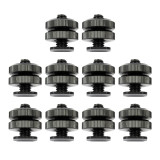 Professional 3/8 Tripod Mount Screw to Flash Hot Shoe Adapter