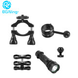 BGNING Aluminum Alloy Outdoor Waterproof Flashlight Clip Diving Photography Fill Light Combo Suitable for Cycling Diving SLR Sports Camera