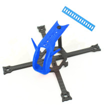 QWinOut Lefei137 137mm DIY FPV Racing Drone Frame Kit with 3D Print TPU 19mm Camera Mount Battery Strap Fit for 3 Inch Props 1102-1105 Motors