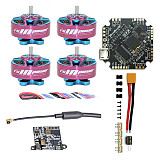 RCinpower NameLessRC AIO412T F4 AIO F411 FC+12A ESC with RCinpower 1204 5000KV 3-4S Motor FE200T 5.8G VTX DIY RC Quadcopter FPV Racing Drone Accessories Kit