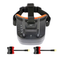 JMT 5.8G 40CH Mini FPV Goggles 3 inch 480 x 320 Display Double Antenna Reception with 85mm FPV Antenna for FPV Racing Drone Quadcopters