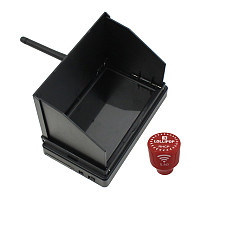 JMT 5.8G 48CH 4.3 Inch LCD Screen FPV Monitor With Short FPV Antenna RP-SMA for FPV Racing Drone Quadcopter