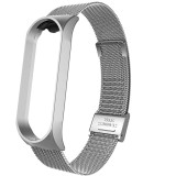 FCLUO Metal Wristband for Mi Band 4 3 Wrist Strap Smart Bracelet Accessories for Xiaomi Miband Mi3 Stainless Steel Magnetic Version