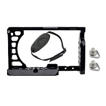 BGNING Aluminum Cage Camera for SONY a6500 / a6400 for Canon EOS M50 for XT-2 XT3 SLR Rapid-Rease Plate mounting case with Bracelet Strap