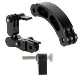 BGNING Aluminum Extension Rod Arm Helmet Mounting Bracket Kit with Black Long Screw Adapter for Gopro / YI / Sjcam / EKEN Sports Cameras for DJI OSMO Action
