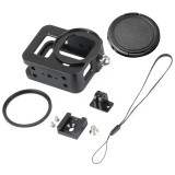 BGNing Aluminum Protection Frame Camera Cage for GoPro Hero 8 Black with 52mm UV Lens Filter Protector Cover Housing Case Mount