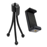 BGNING Mini Tripod Camera Stand Desktop Tripod with Mobile Stand Holder Clip Adapter for 56-85mm Smart Cell Phone