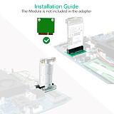 XT-XINTE Mini PCI-E to Mini PCI Express Adapter mSATA to SSD mSATA Riser Card for 3G 4G WWAN LTE GPS Module mSATA Add On Card