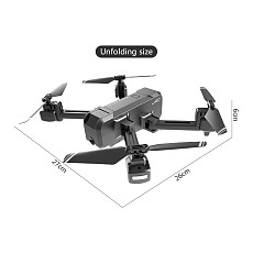 Feichao Mini Foldable Drone with Dual Camera 1080P 4K HD WiFi FPV Optical Flow RC Quadcopter KF607 VS SG106 XS816 Selfie Dron Toys Gift