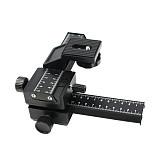 BGNING 4 Way Macro Focusing Rail Slider Close-up Shooting Tripod Head 1/4  Screw for Canon/Pentax/Nikon/Olympus/Samsung DSLR Camera